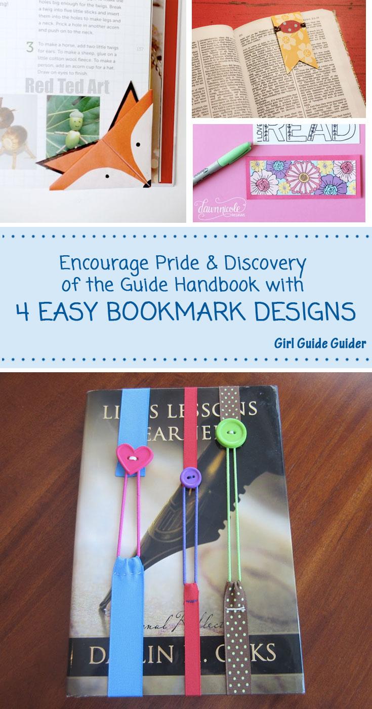 4 Easy Bookmark Designs