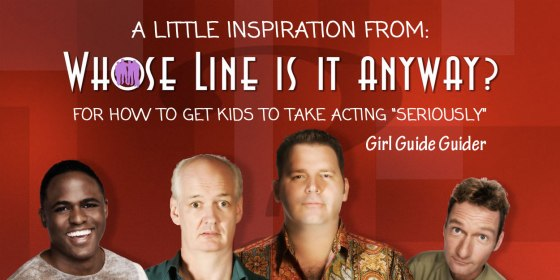 "How to get kids to taking acting ""seriously"""